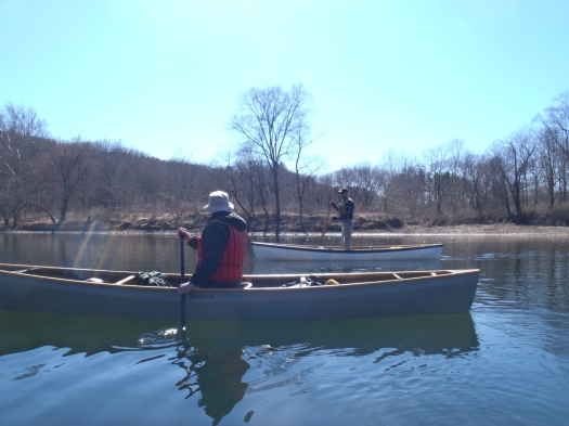 Harold and Joe in their SRTs, a tripping canoe designed by none other than Harold himself.
