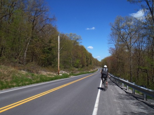 On Rt. 45, coming down the mountain.