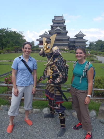 """Middle name John"" also insisted on taking pictures of us with this samurai."