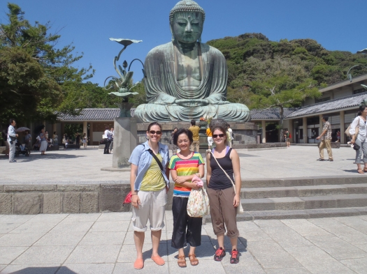 Spending a day in Kamakura with Amanda's host mother from her trip to Japan last year.