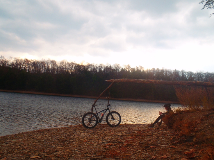 Quiet moments with a bike.