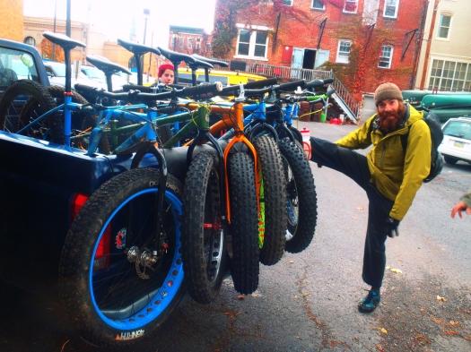 Fat-bikes and fun attitudes are all ready to go.