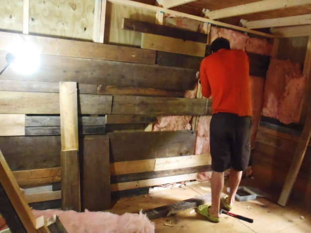 Working on the cabin---September.