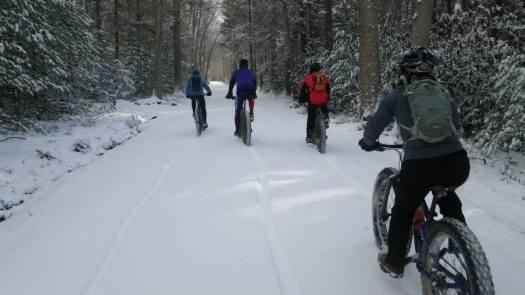 Breaking trail down Alan Seeger Road.