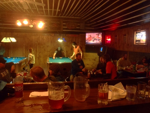 Pitchers and pool.
