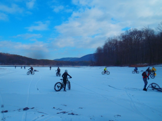 Ice riding.