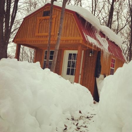 Lotta snow--February 16, 2014.