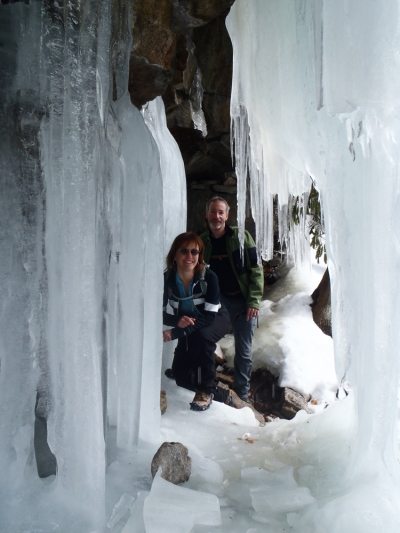 Steve and Tammy in the ice cave.