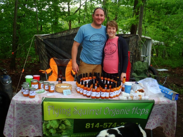 Friends at Flying Squirrel Organic Hops.