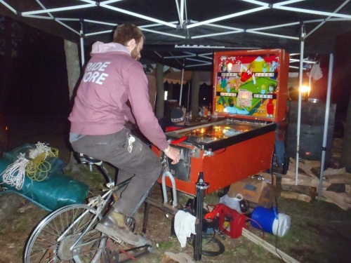Bicycle pinball.