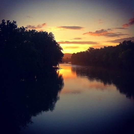 juniata river sunset
