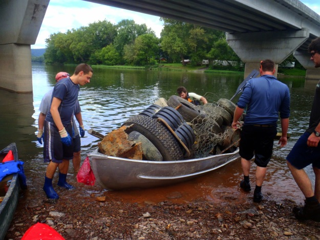 """Evan did a great job maneuvering """"The Barge"""", which was used to collect larger items."""