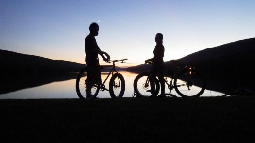 All good things---Ev, bikes, and sunsets.