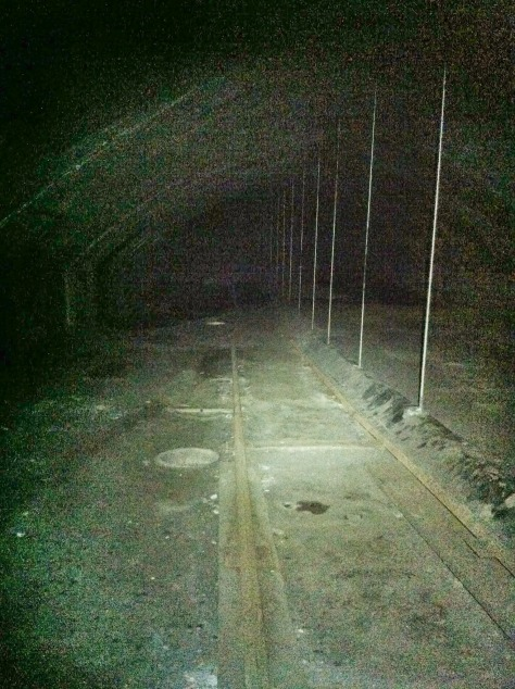 The tunnel above the tunnel. Notice the rail line.