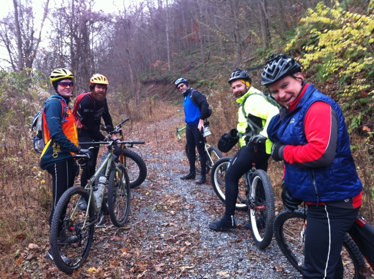 The crew at the beginning of the ride -- L-R: