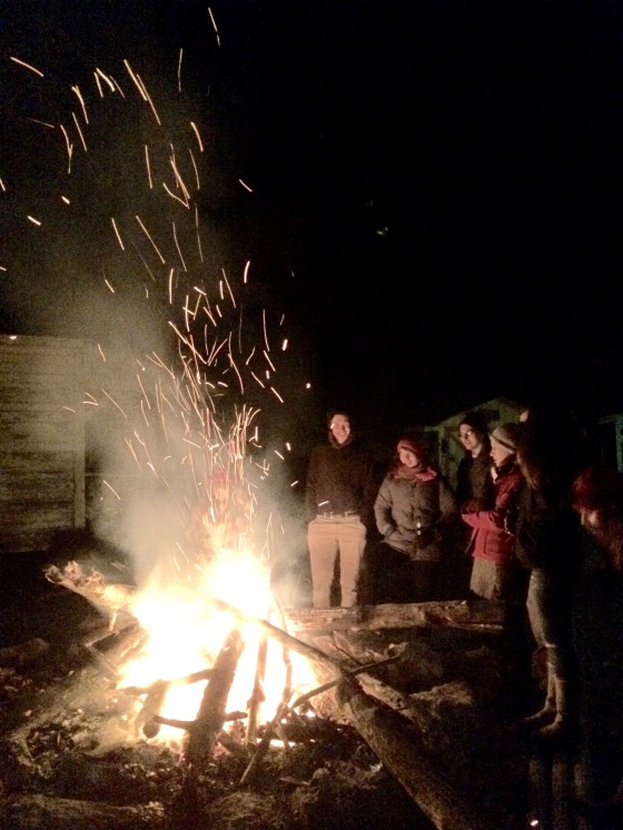 Ringing in 2015 with a bonfire and good people.