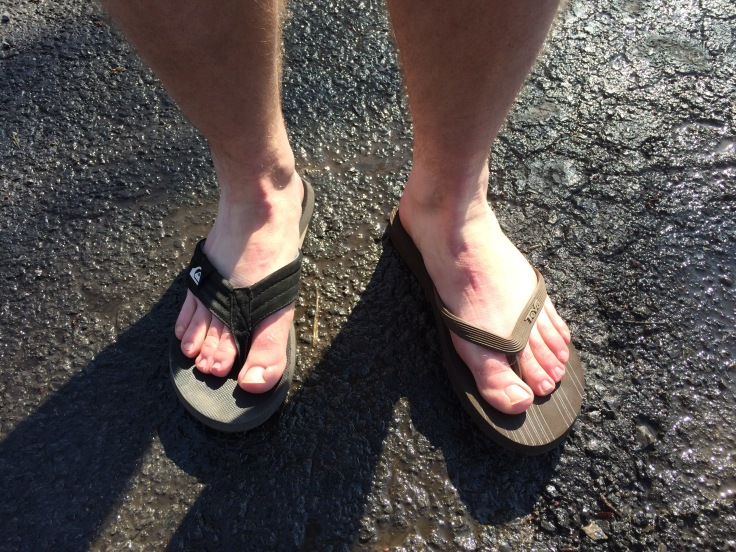 I don't think it's quite warm enough for these yet, but Jeff does.