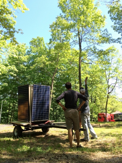 One of the coolest changes/additions to Dirt Fest was the use of solar power via Zero Fossil Energy Outfitters.