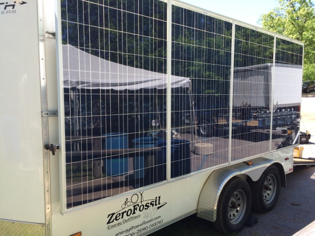 They brought a cool trailer with an attached solar array.