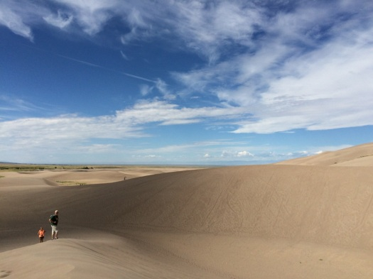 sand dune hikers