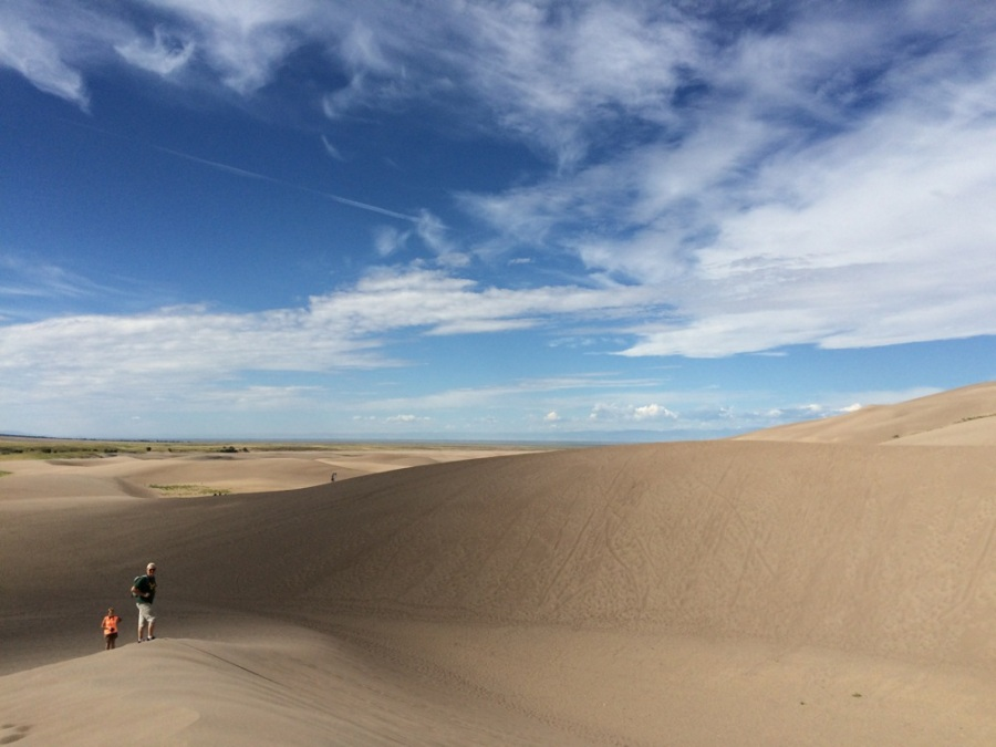sand dune hikers