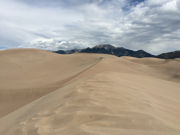 dunes with mountains